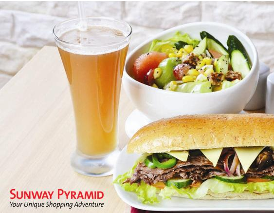 "6"" Beef Sandwich + Salad + Fortune Delight Beverage"