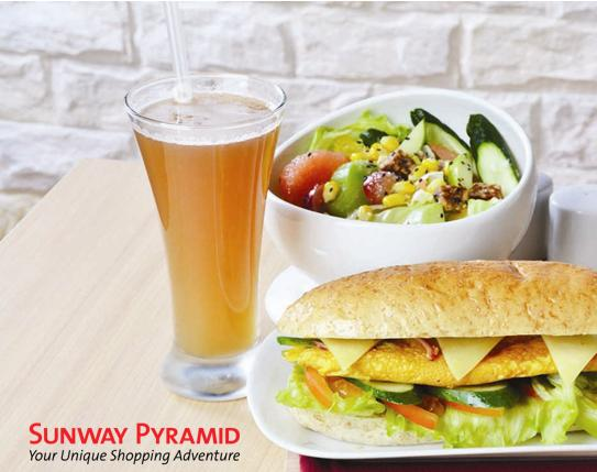 "6"" Farm Egg Sandwich + Salad + Fortune Delight Beverage"
